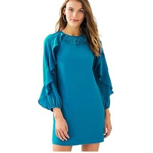 LILLY PULITZER Leni Dress in Mr Peacock Blue NWT 4